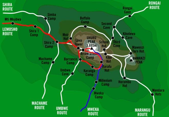 kilimanjaro-routeslemosho